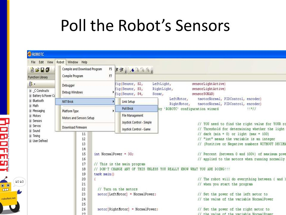 Poll the Robots Sensors