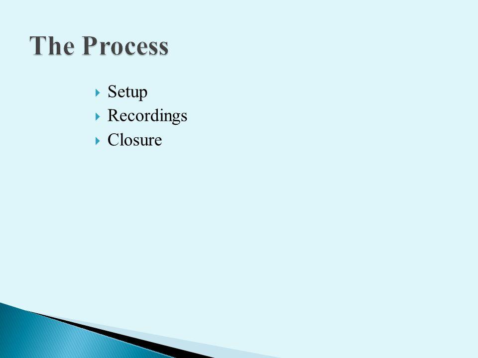 Setup Recordings Closure