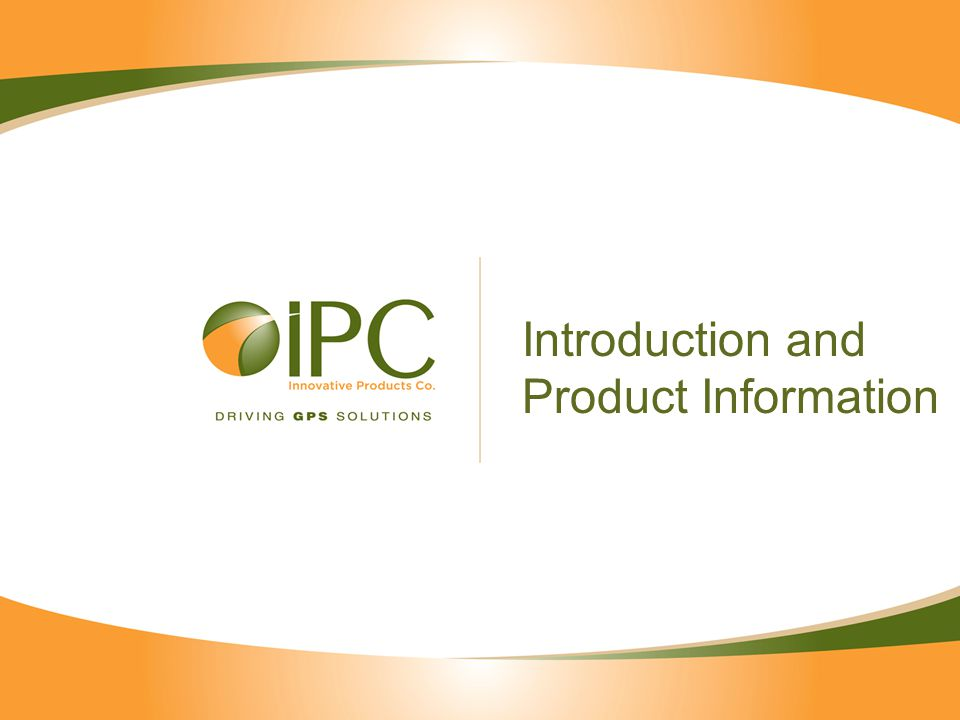 Introduction and Product Information
