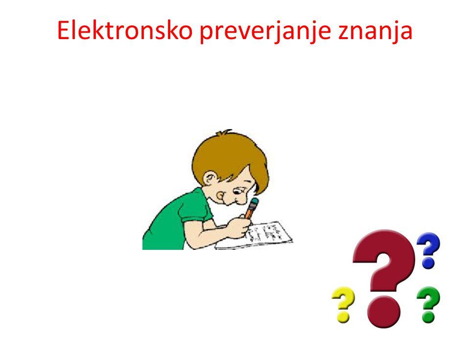 Elektronsko preverjanje znanja