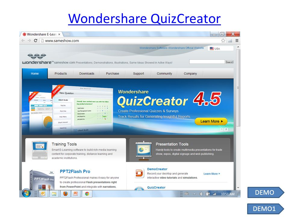 Wondershare QuizCreator DEMO1 DEMO