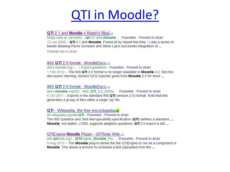 QTI in Moodle