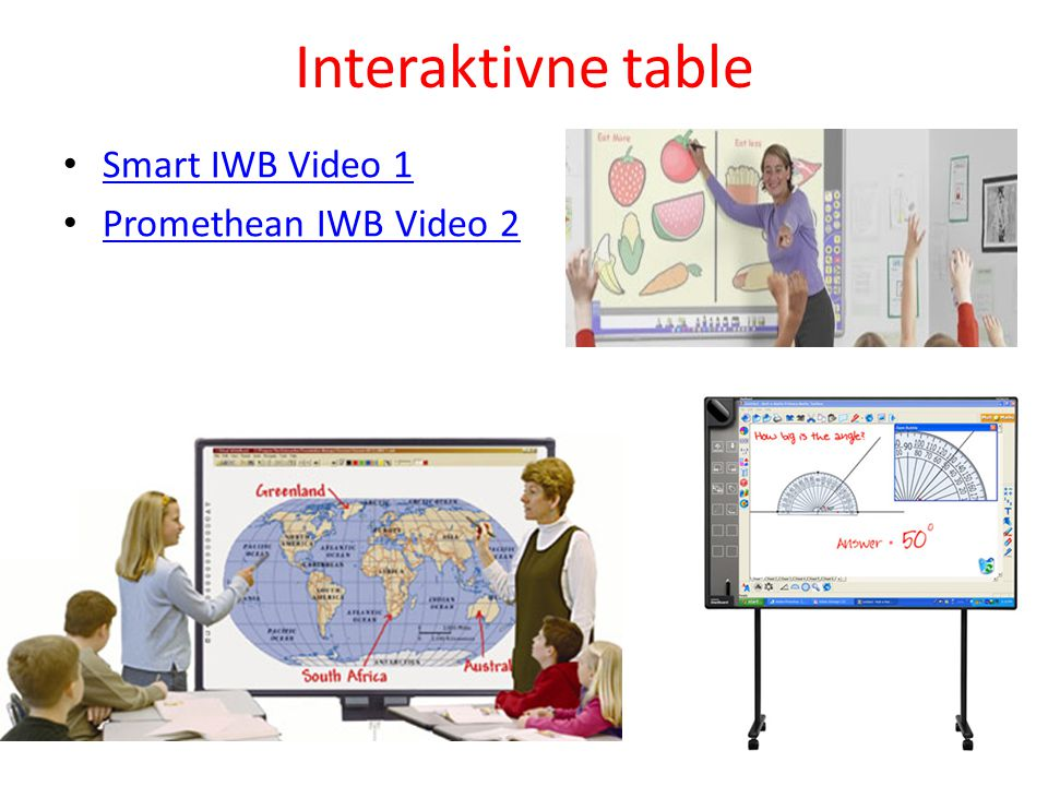 Interaktivne table Smart IWB Video 1 Promethean IWB Video 2