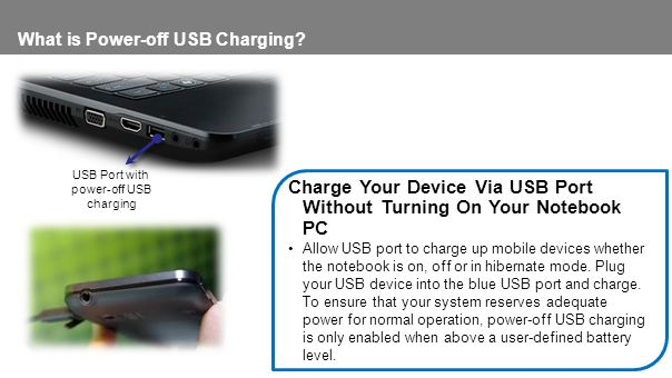 What is Power-off USB Charging.