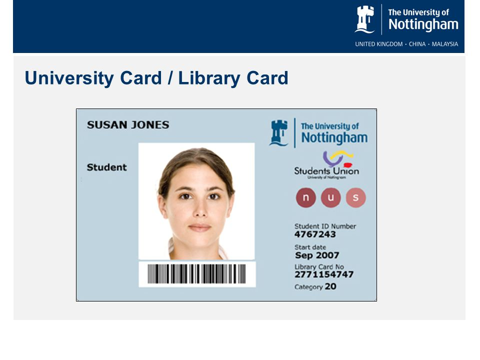 University Card / Library Card