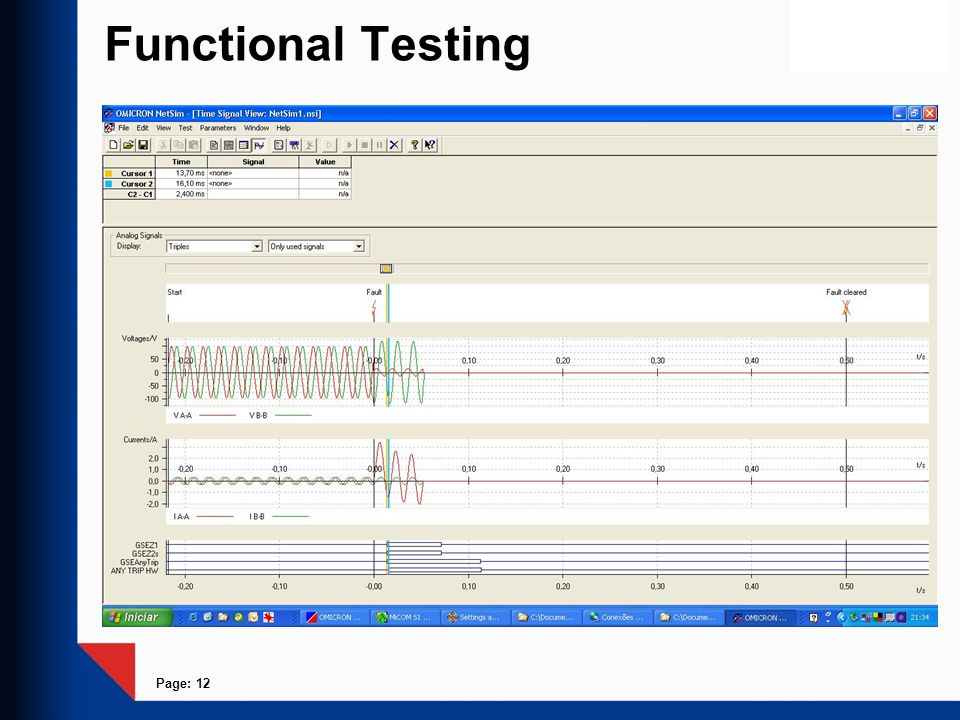 Page: 12 Functional Testing