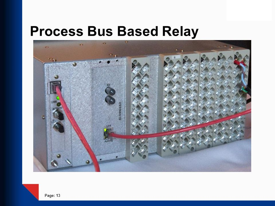 Page: 13 Process Bus Based Relay