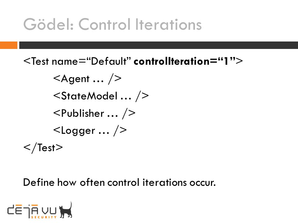 Gödel: Control Iterations Define how often control iterations occur.