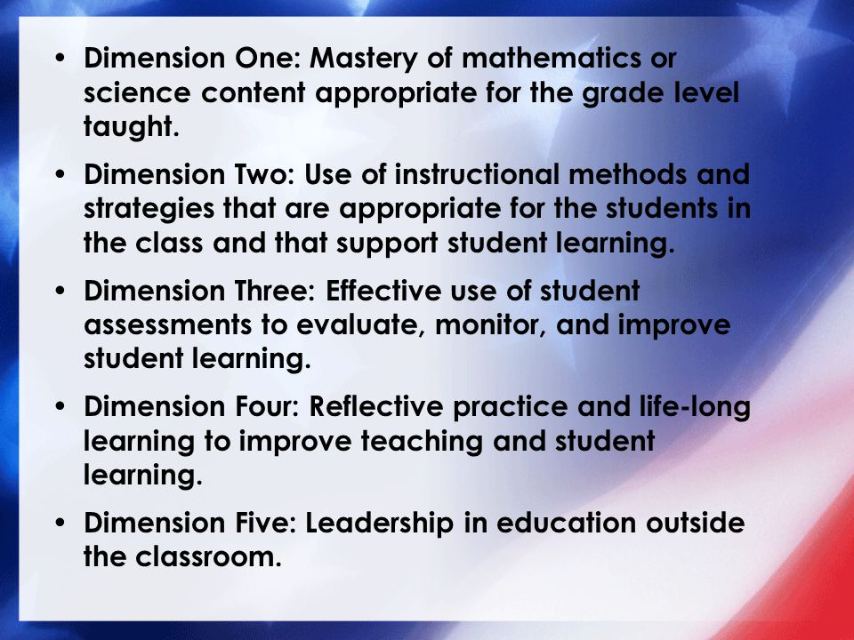 Dimension Five Dimension Five: Leadership in education outside the classroom.