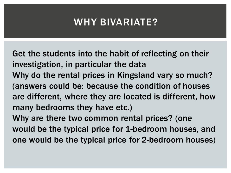 Bivariate investigation LO: Write a plan for a bivariate investigation
