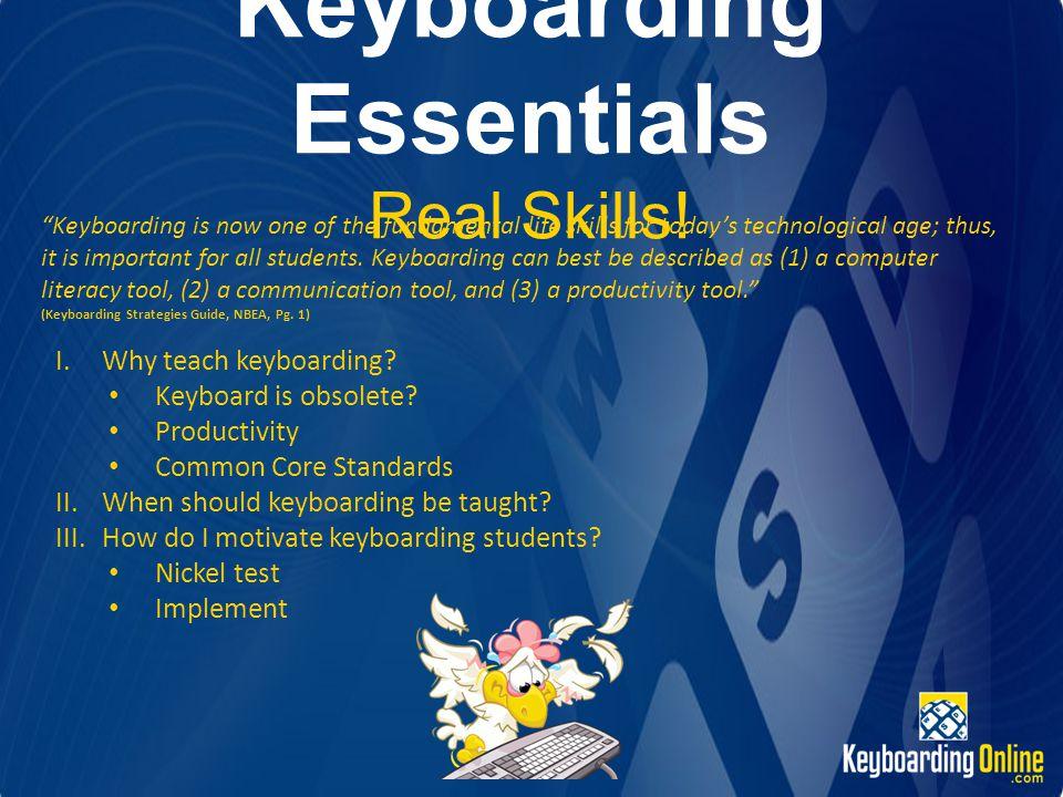 Keyboarding Essentials Real Skills.