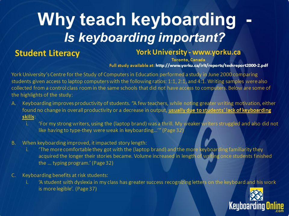 Why teach keyboarding - Is keyboarding important.
