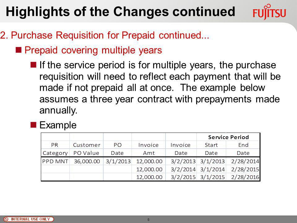 © Fujitsu Limited, 2010 Highlights of the Changes 3.