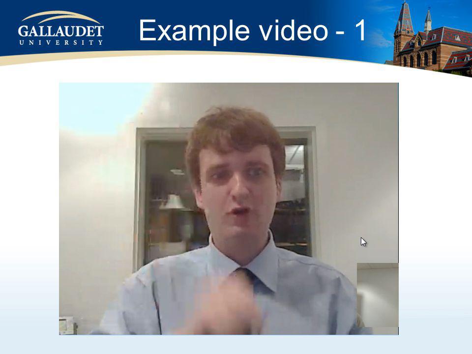 Example video - 1