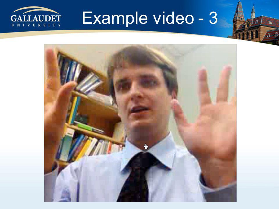 Example video - 3