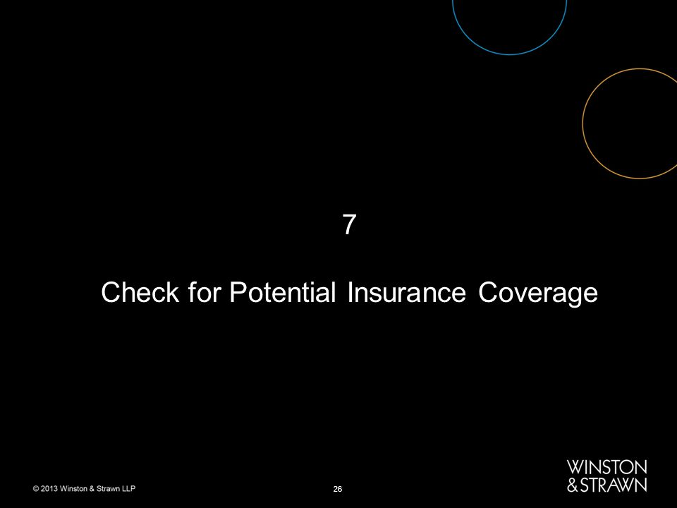 26 7 Check for Potential Insurance Coverage