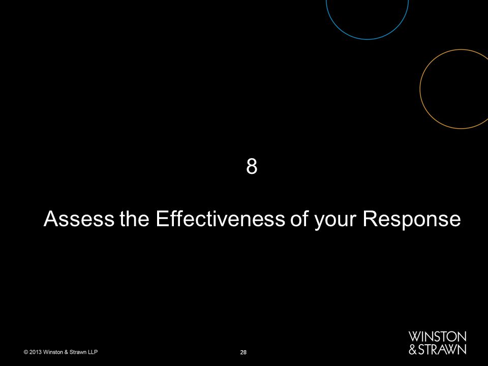 28 8 Assess the Effectiveness of your Response
