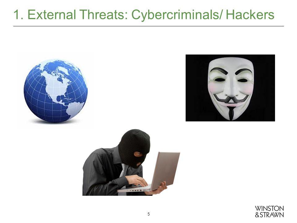 1. External Threats: Cybercriminals/ Hackers 5
