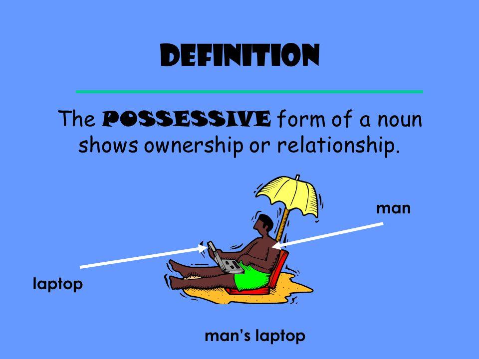 Semester one exam review Possessive Nouns