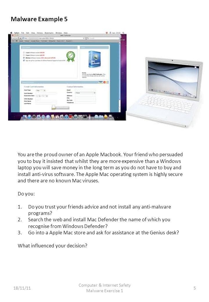 You are the proud owner of an Apple Macbook.