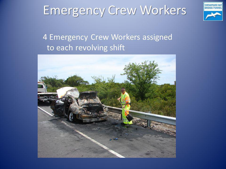 Emergency Crew Workers 4 Emergency Crew Workers assigned to each revolving shift