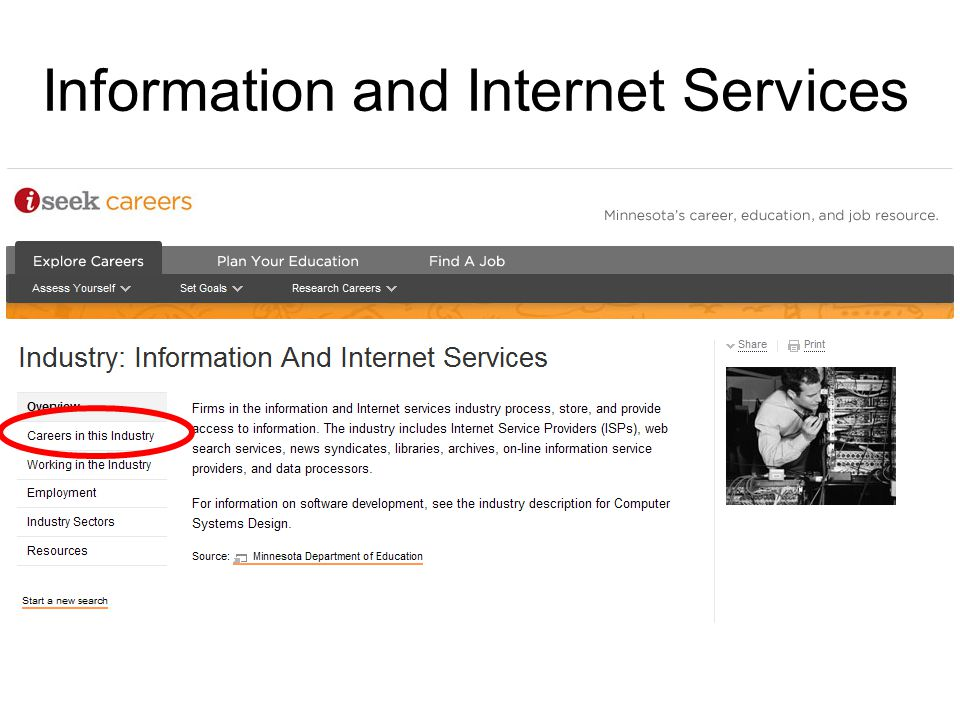 Information and Internet Services