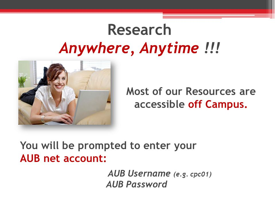 Research Anywhere, Anytime !!.