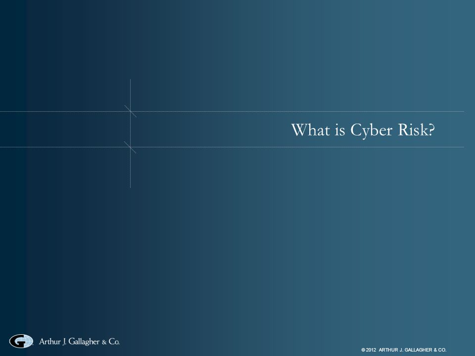 © 2012 ARTHUR J. GALLAGHER & CO. What is Cyber Risk