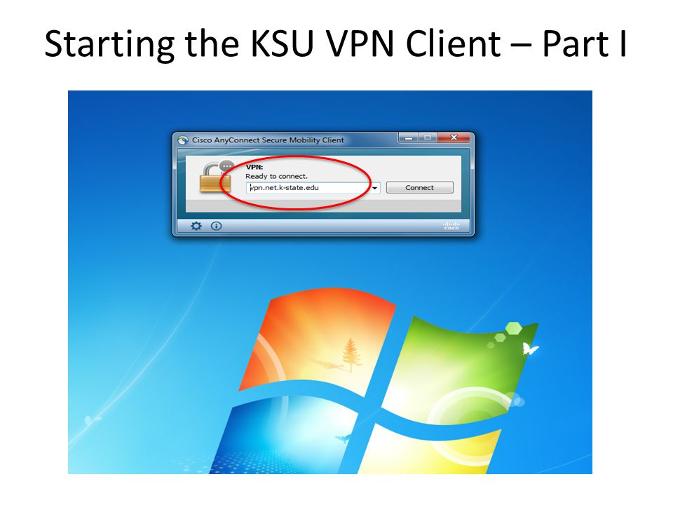 Starting the KSU VPN Client – Part I