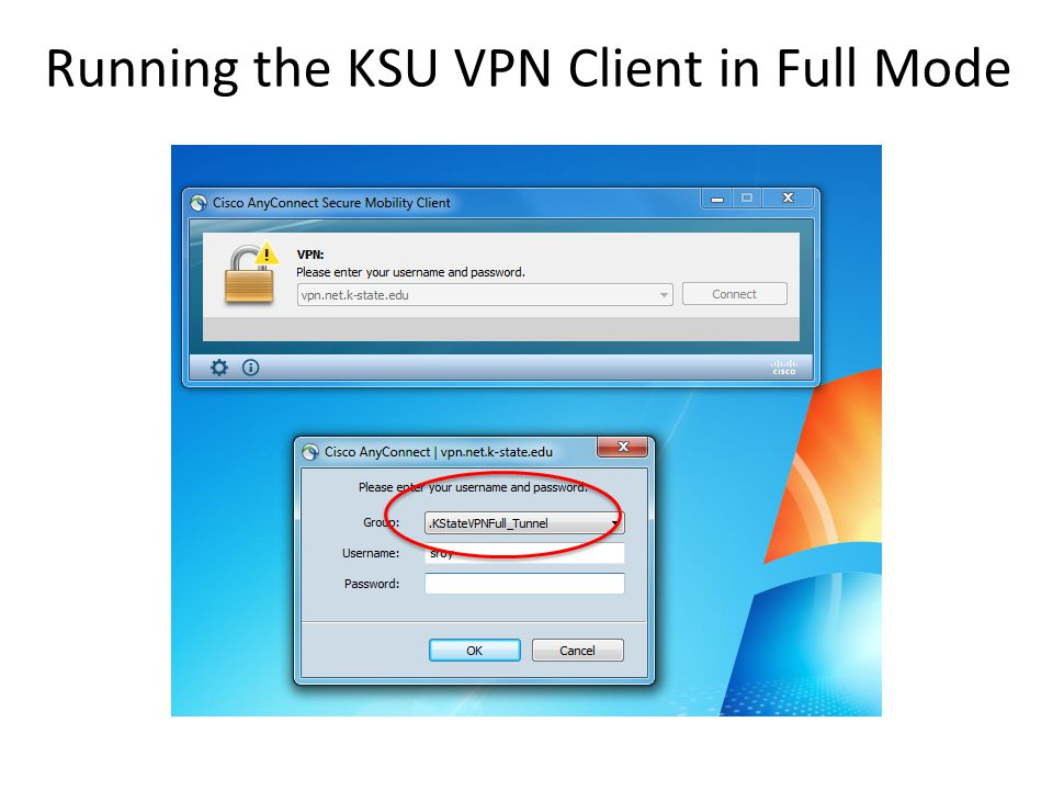 Running the KSU VPN Client in Full Mode