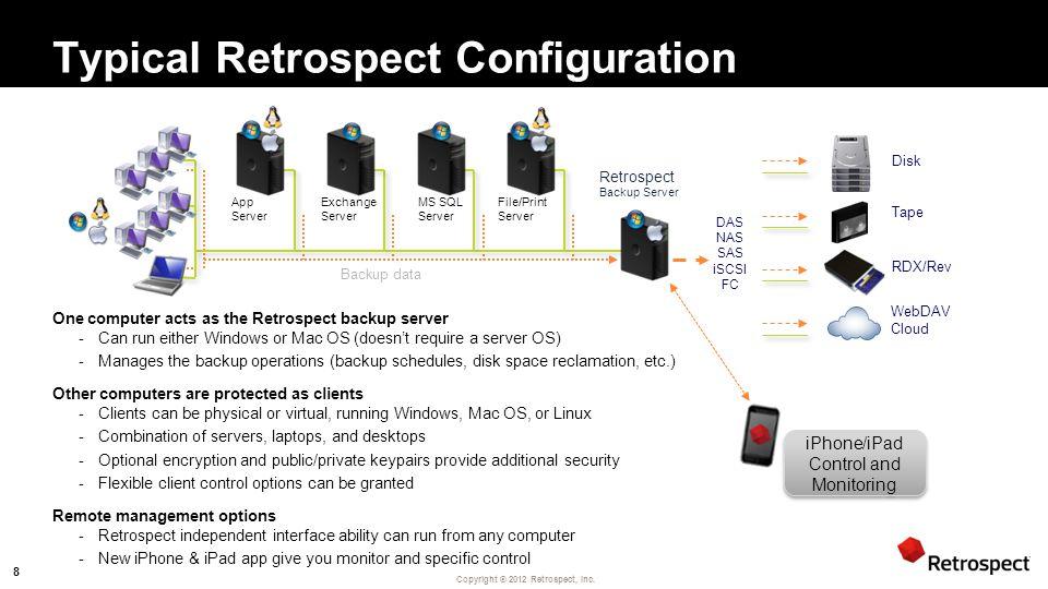 Copyright ® 2012 Retrospect, Inc.
