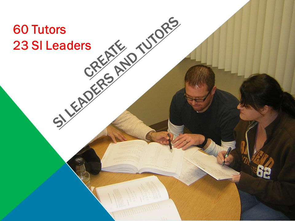 CREATE SI LEADERS AND TUTORS 60 Tutors 23 SI Leaders