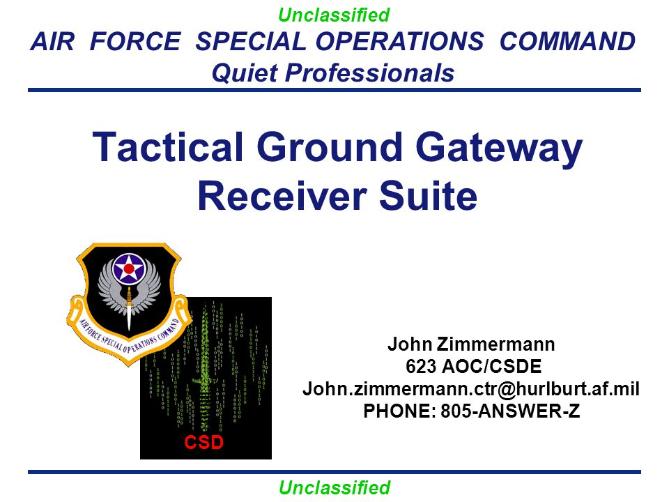 Unclassified TGGRS Overview 2