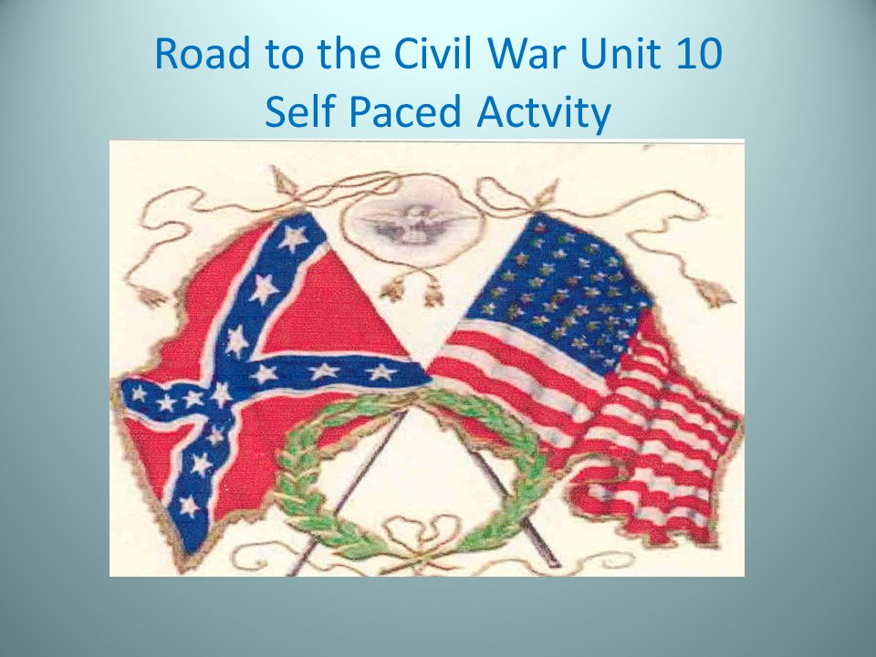 Road to the Civil War Unit 10 Self Paced Actvity