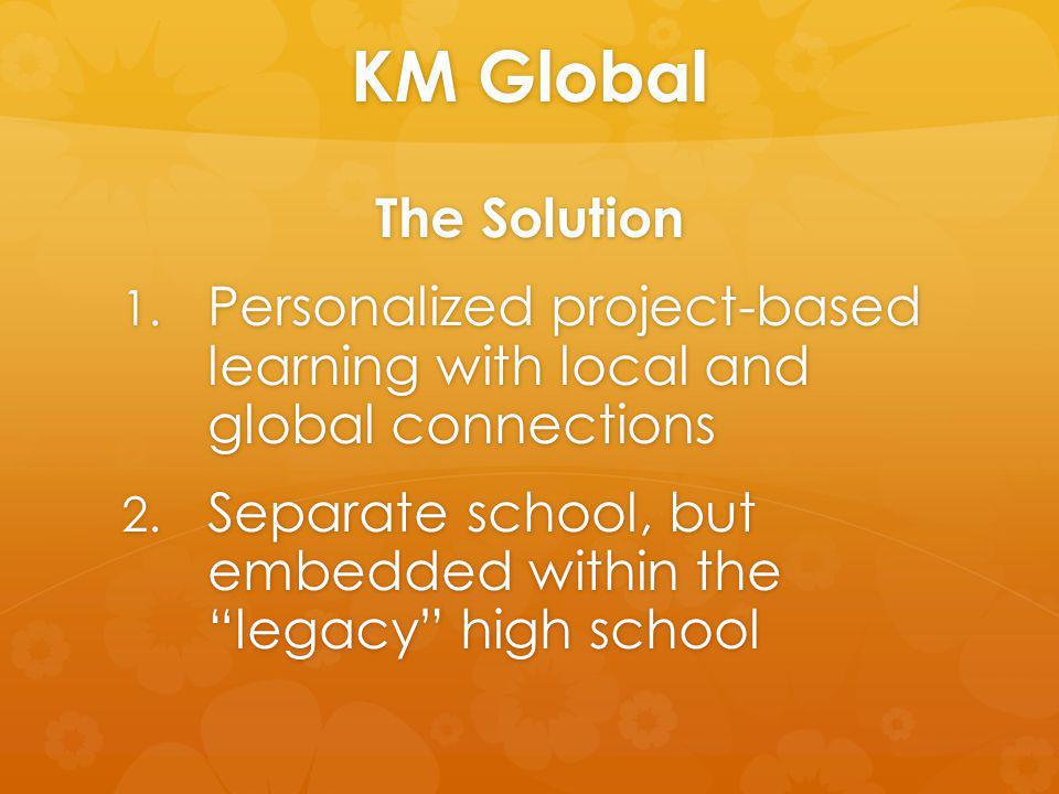 KM Global The Solution 1. Personalized project-based learning with local and global connections 2.