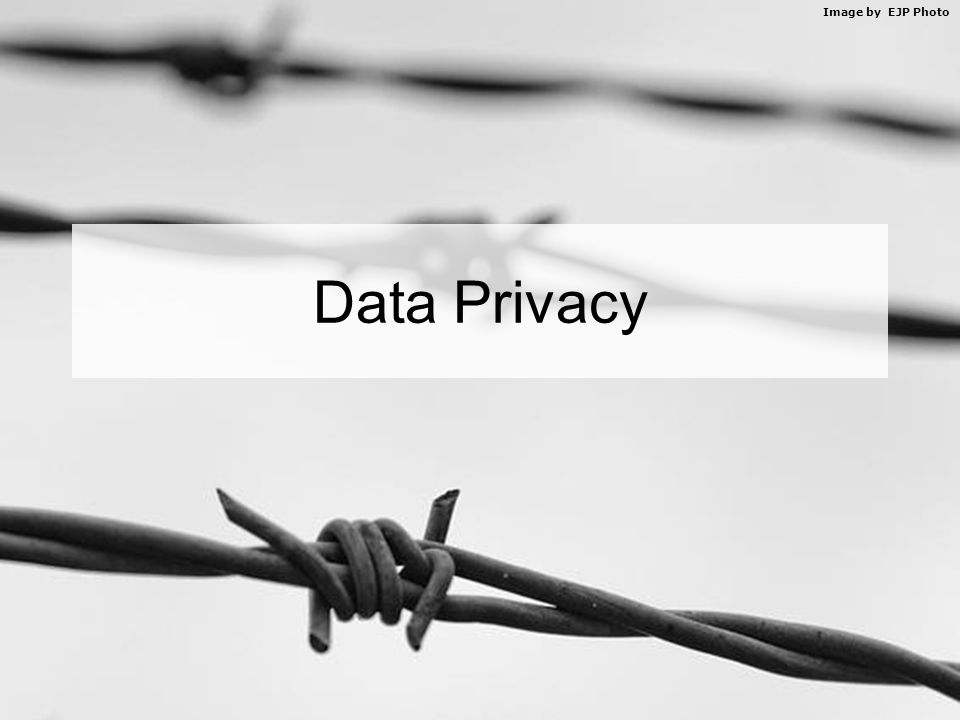 Image by EJP Photo Data Privacy