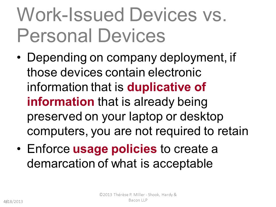 Work-Issued Devices vs.