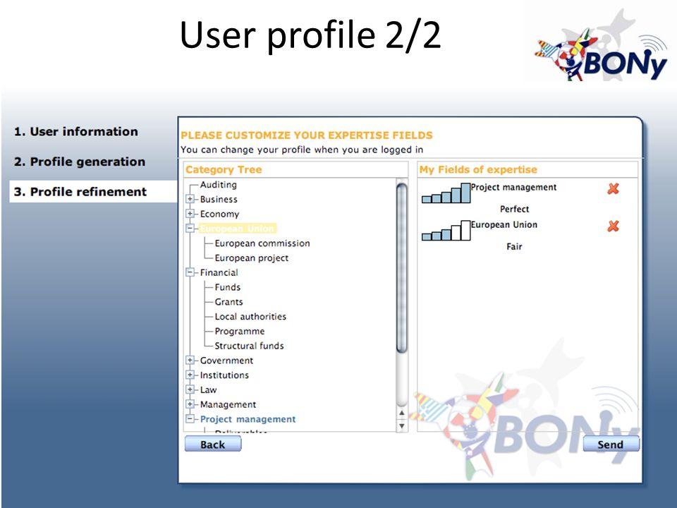 User profile 2/2