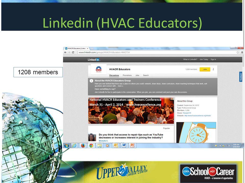 Linkedin (HVAC Educators) 1208 members