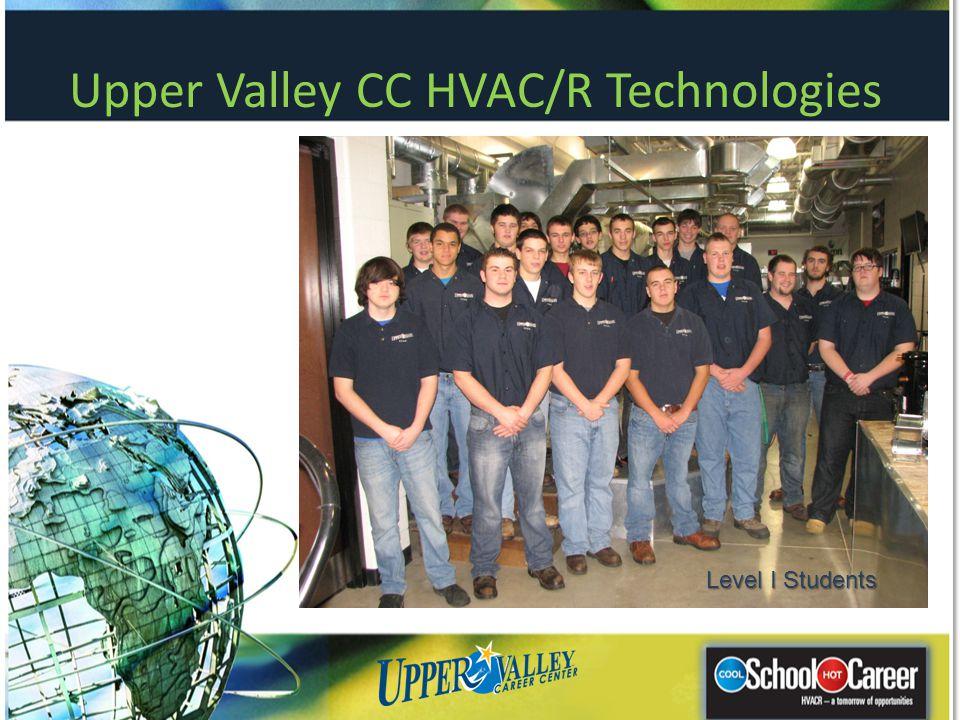 Upper Valley CC HVAC/R Technologies Level I Students