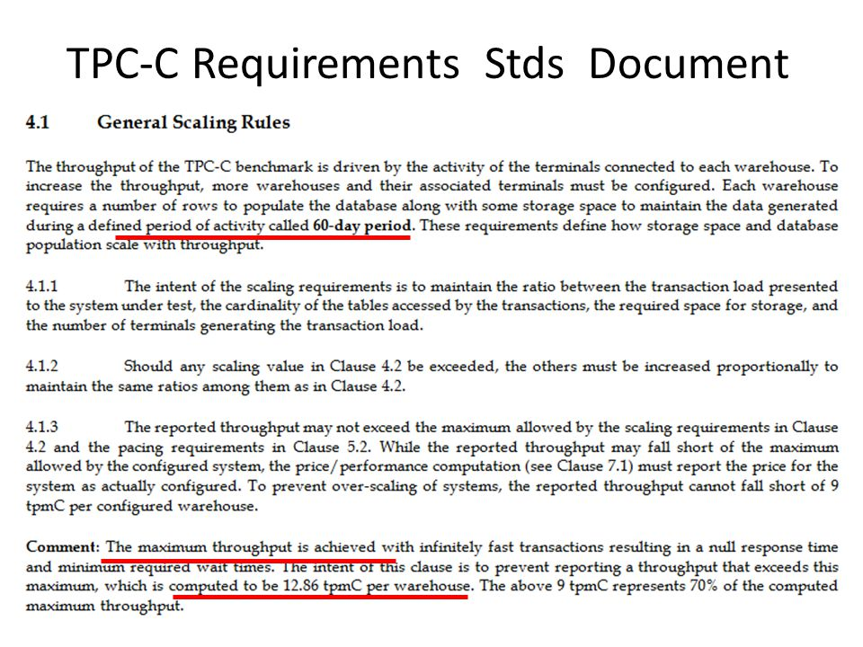 TPC-C Requirements Stds Document
