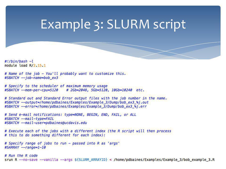 Example 3: SLURM script