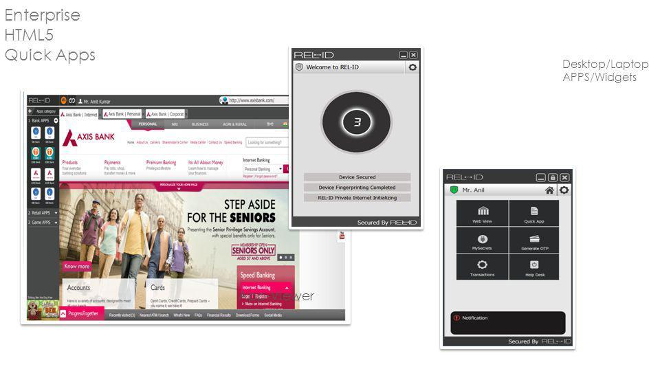 App-Viewer Desktop/Laptop APPS/Widgets Enterprise HTML5 Quick Apps