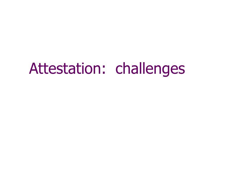 Attestation: challenges