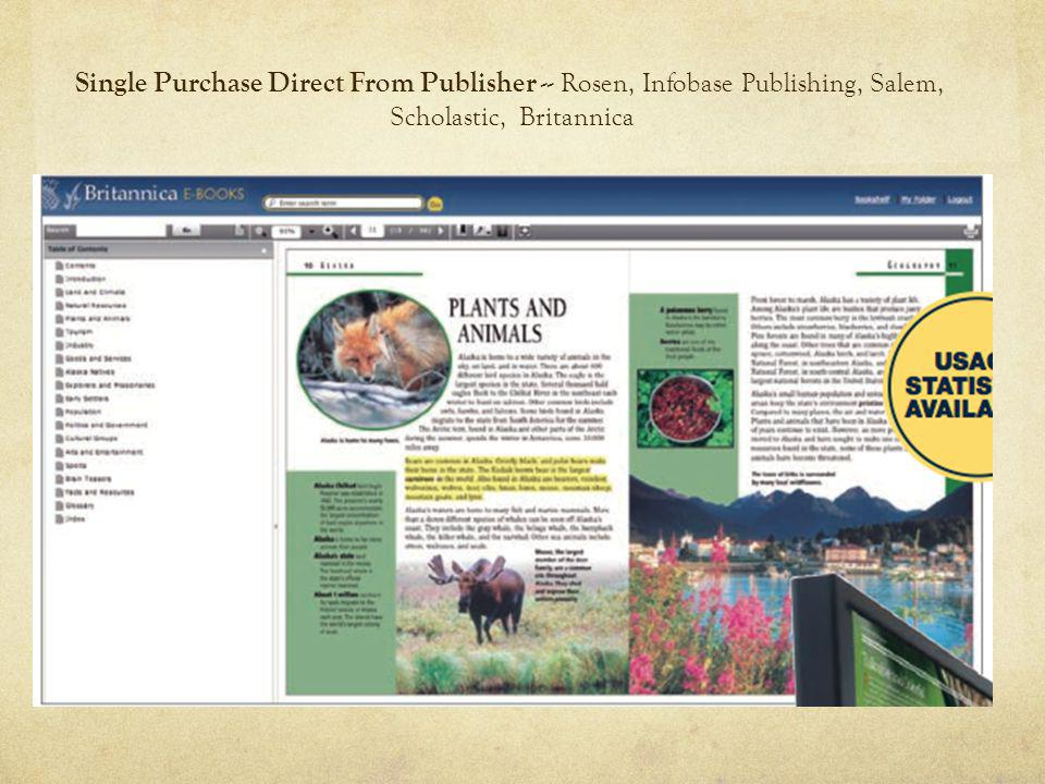 Single Purchase Direct From Publisher -- Rosen, Infobase Publishing, Salem, Scholastic, Britannica