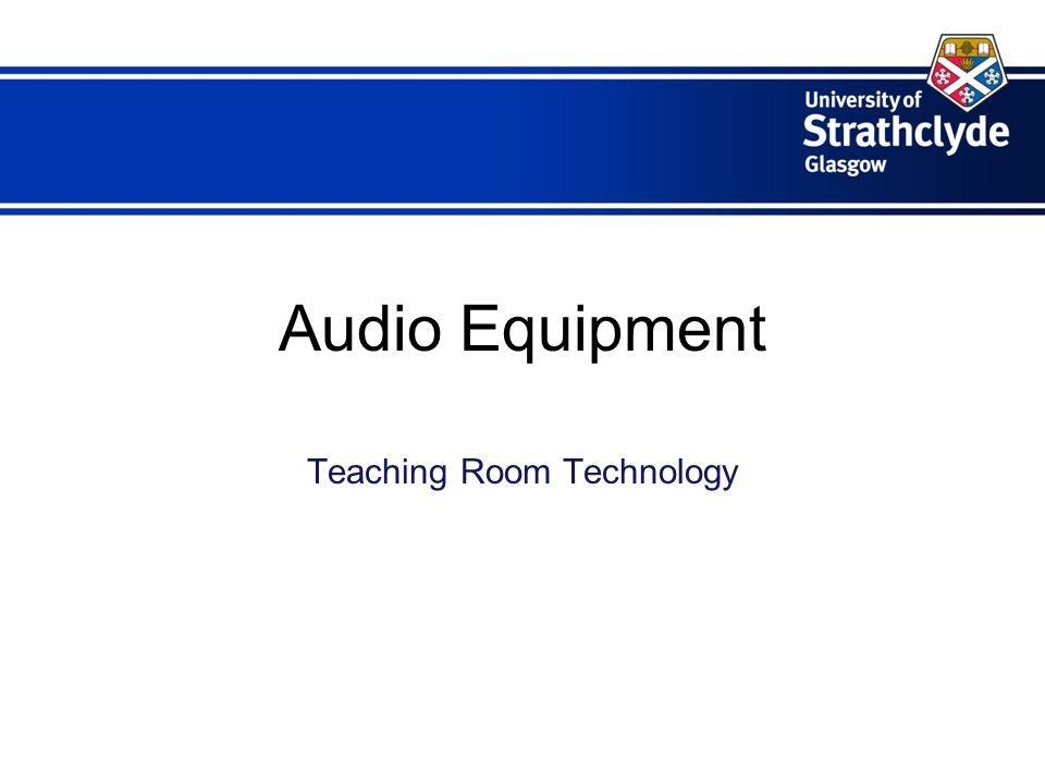 Audio Equipment Teaching Room Technology