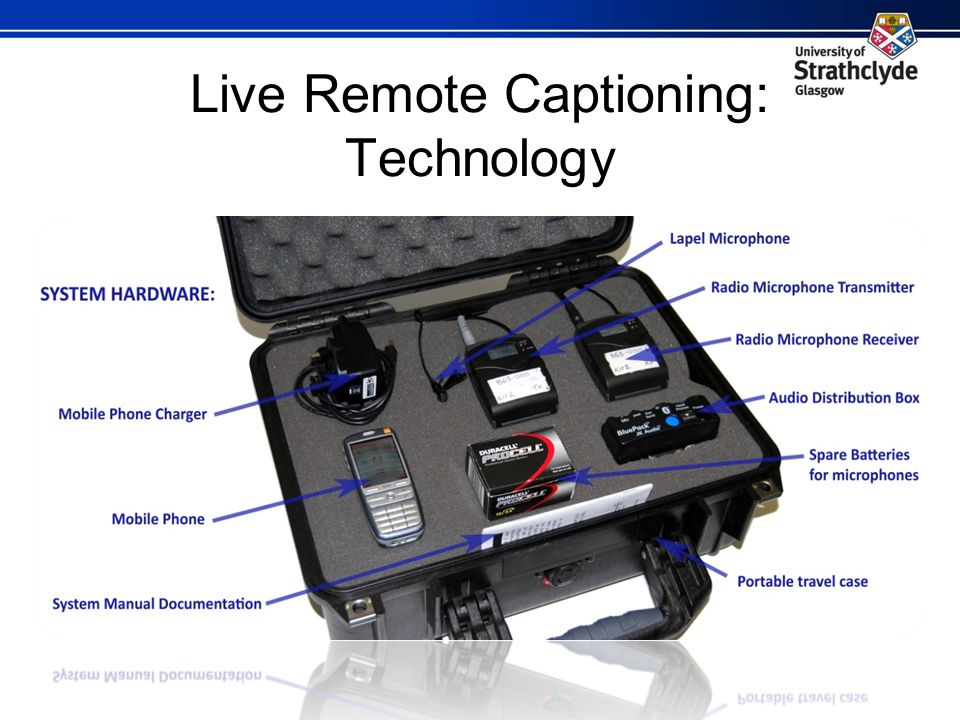 Live Remote Captioning: Technology Image of our Live Remote Captioning Hardware.