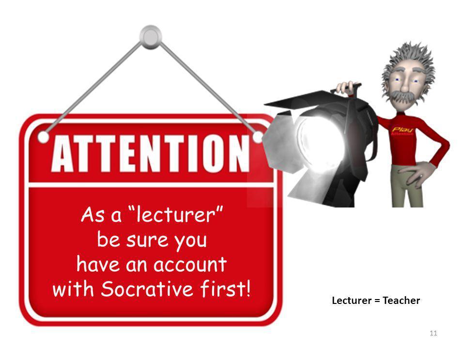 11 Lecturer = Teacher