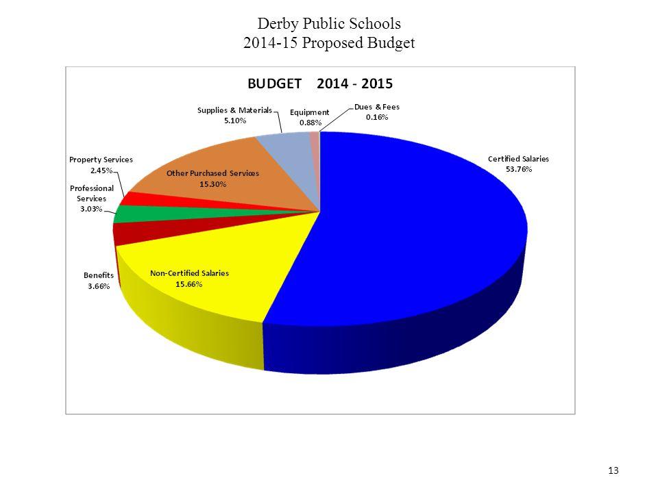 Derby Public Schools 2014-15 Proposed Budget 13