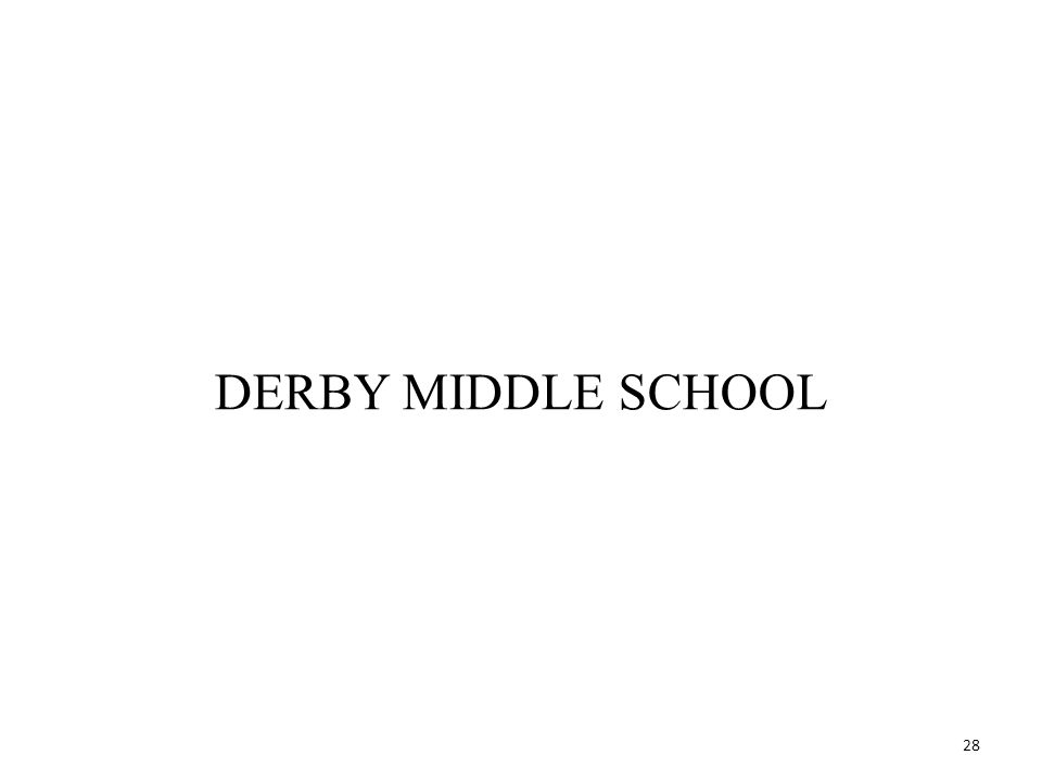 28 DERBY MIDDLE SCHOOL